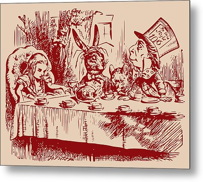 Mad Tea Party Metal Print by