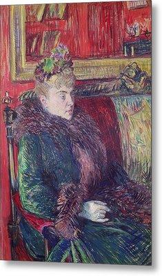 Madame De Gortzikoff, 1893 Oil On Canvas Metal Print by Henri de Toulouse-Lautrec