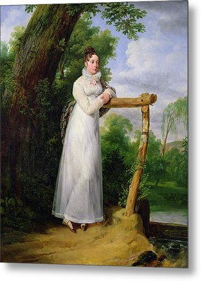 Madame Philippe Lenoir 1792-1874 1814 Oil On Canvas Metal Print by Emile Jean Horace Vernet