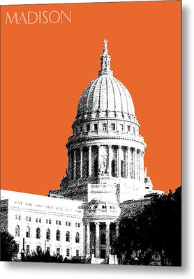 Madison Capital Building - Coral Metal Print by DB Artist