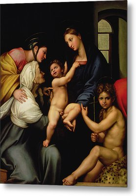 Madonna Dell'impannata Metal Print by Raphael