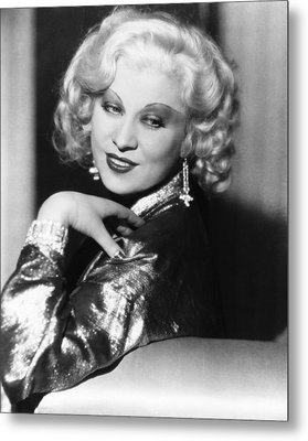 Mae West, Ca. 1935 Metal Print by Everett
