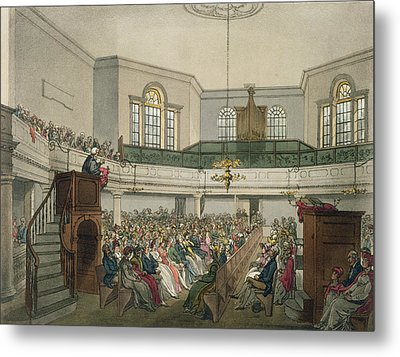 Magdalen Chapel Metal Print by Pugin And Rowlandson
