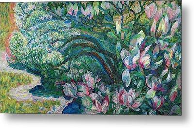Magnolia In Ordrupgaard Metal Print by Olga Sorokina