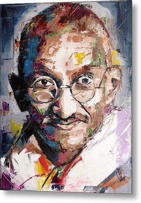 Mahatma Gandhi Metal Print by Richard Day