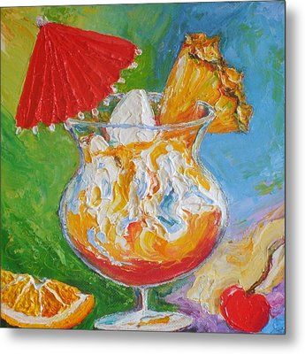 Mai Tai Mixed Drink Metal Print by Paris Wyatt Llanso