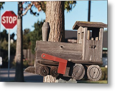 Mail Stop Metal Print by Caitlyn  Grasso