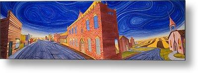 Main Street Panoramic Metal Print by Scott Kirby