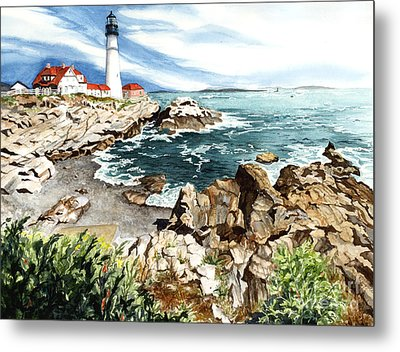 Maine Attraction Metal Print by Barbara Jewell