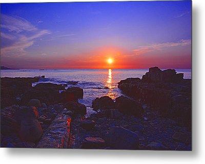 Maine Coast Sunrise Metal Print by Raymond Salani III