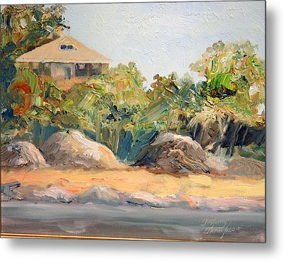 Maine Harbor House Metal Print by Tommy Thompson