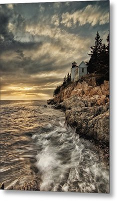 Maine Lighthouse Metal Print by Chad Tracy