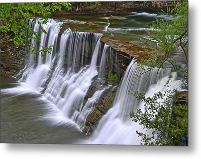 Majestic Falls Metal Print by Frozen in Time Fine Art Photography