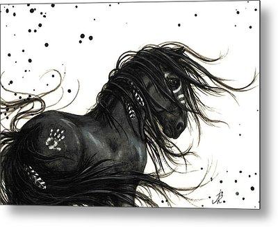 Majestic Friesian Horse Metal Print by AmyLyn Bihrle