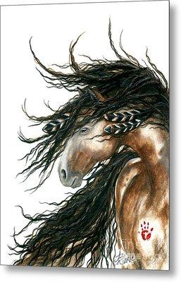 Majestic Pinto Horse 80 Metal Print by AmyLyn Bihrle