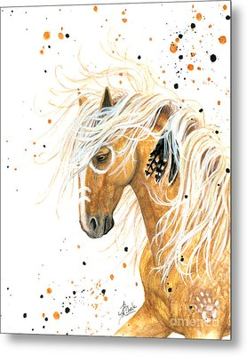 Majestic Palomino Horse 84 Metal Print by AmyLyn Bihrle