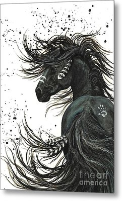 Majestic Spirit Horse 65 Metal Print by AmyLyn Bihrle