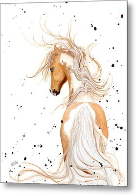 Majestic Palomino Pinto Metal Print by AmyLyn Bihrle