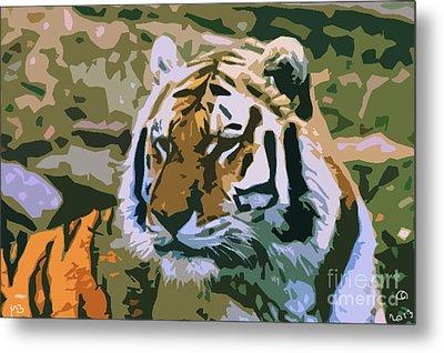 Majestic Tiger Metal Print by Mark Brady