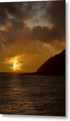 Makapuu Point Lighthouse Sunrise Metal Print by Brian Harig