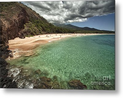 Makena Beach Maui Metal Print by Paul Karanik