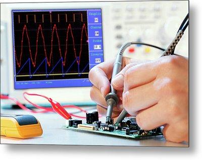 Making An Electronic Micro Processor Metal Print by Wladimir Bulgar