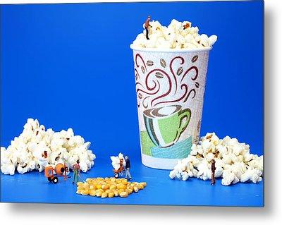 Making Popcorn Metal Print by Paul Ge