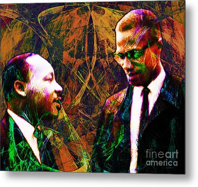 Malcolm And The King 20140205 Metal Print by Wingsdomain Art and Photography