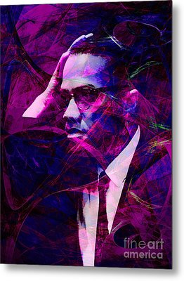 Malcolm X 20140105m88 Metal Print by Wingsdomain Art and Photography