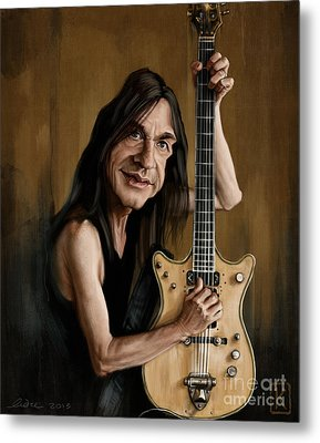 Malcolm Young Metal Print by Andre Koekemoer