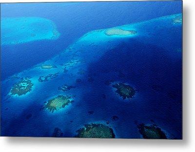 Maldivian Reefs. Aerial Journey Over Maldivian Archipelago Metal Print by Jenny Rainbow