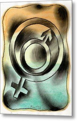 Male And Female Metal Print by Leon Zernitsky