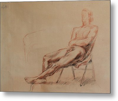 Male Nude 4 Metal Print by Becky Kim