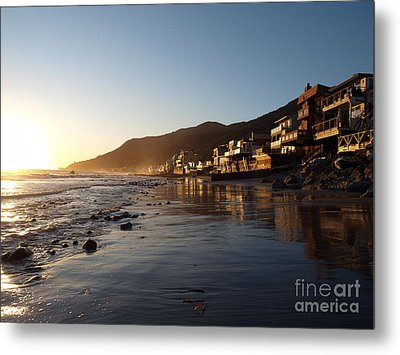 Malibu Topanga Sunset Metal Print by Trekkerimages Photography