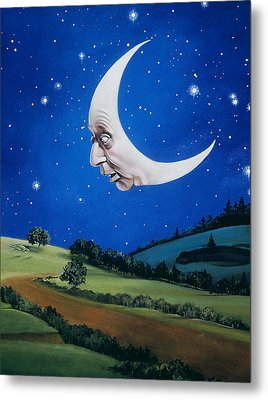 Man In The Moon Metal Print by Carol Heyer