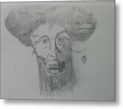 Man With An Afro Metal Print by AJ Brown