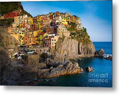 Manarola Metal Print by Inge Johnsson