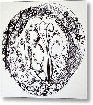 Mandala #1 Metal Print by Lori Thompson