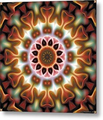 Mandala 67 Metal Print by Terry Reynoldson