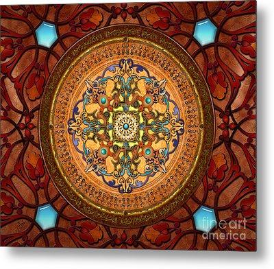 Mandala Arabia Sp Metal Print by Bedros Awak