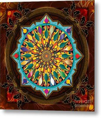 Mandala Droplets Metal Print by Bedros Awak