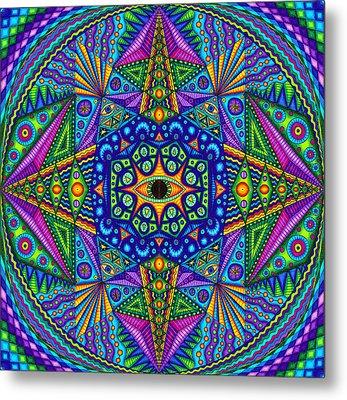 Mandala Madness Metal Print by Matt Molloy