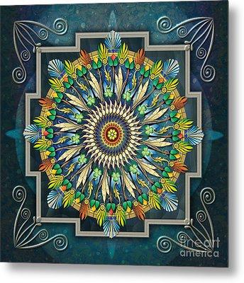 Mandala Night Wish Metal Print by Bedros Awak