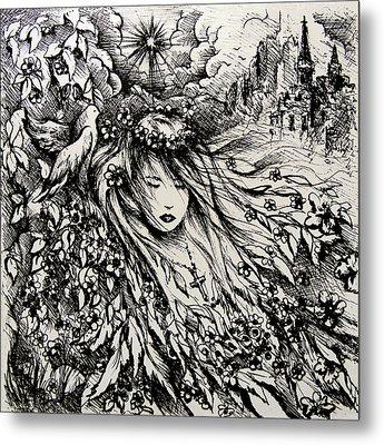 Mandee's Dream Metal Print by Rachel Christine Nowicki