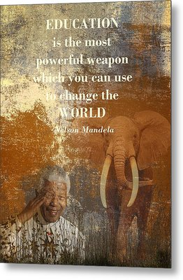 Mandela Metal Print by Sharon Lisa Clarke