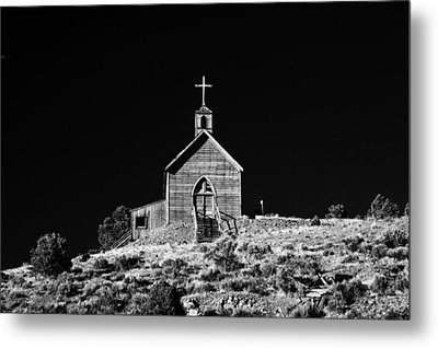 Manhattan Church Metal Print by Cat Connor