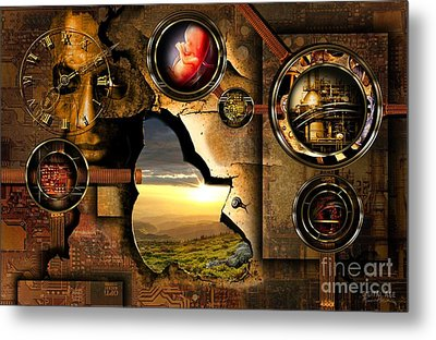 Manipulation Of The Human Reality Metal Print by Franziskus Pfleghart