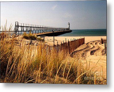 Manistee Lighthouse Metal Print by Crystal Nederman