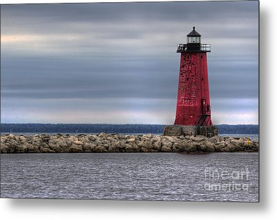 Manistique Lighthouse Metal Print by Twenty Two North Photography