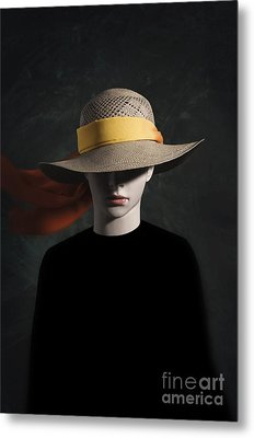 Mannequin With Hat Metal Print by Carlos Caetano